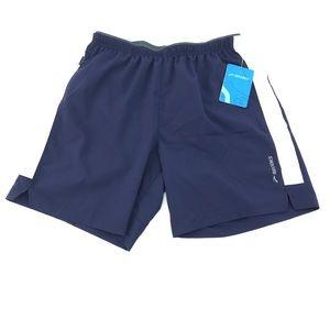 "Brooks Mens Go-To 7"" Navy White Running Shorts"